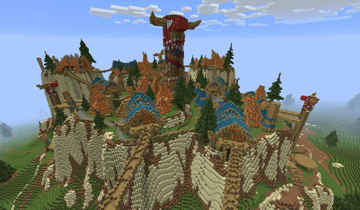 best minecraft creations and maps crafting azeroth 4 thunder bluff