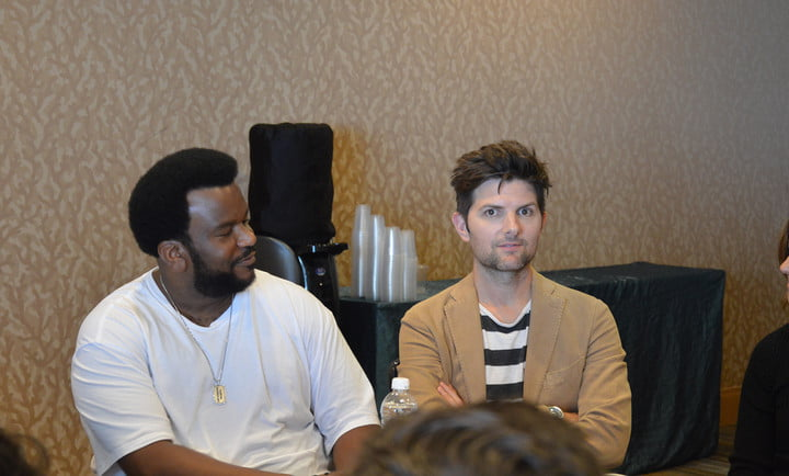 Craig Robinson and Adam Scott at the Ghosted Press Room San Diego Comic-Con 2017