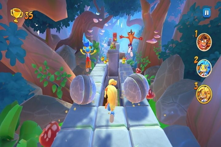 Crash Bandicoot: On the Run game on Android.