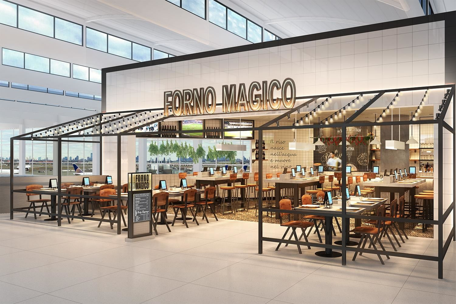 ipads are replacing waiters in airport restaurants creme c3 f4 fornomagico view1