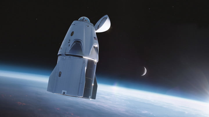 How the new Crew Dragon spacecraft will look.