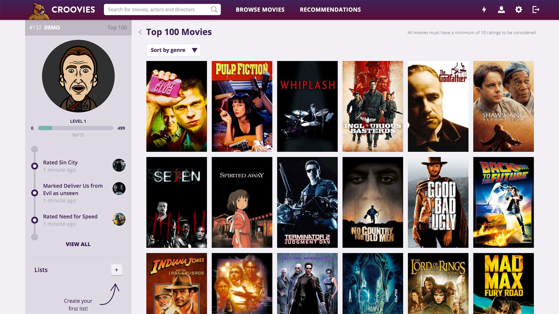 croovies movie ratings and recommendations screenshot 2