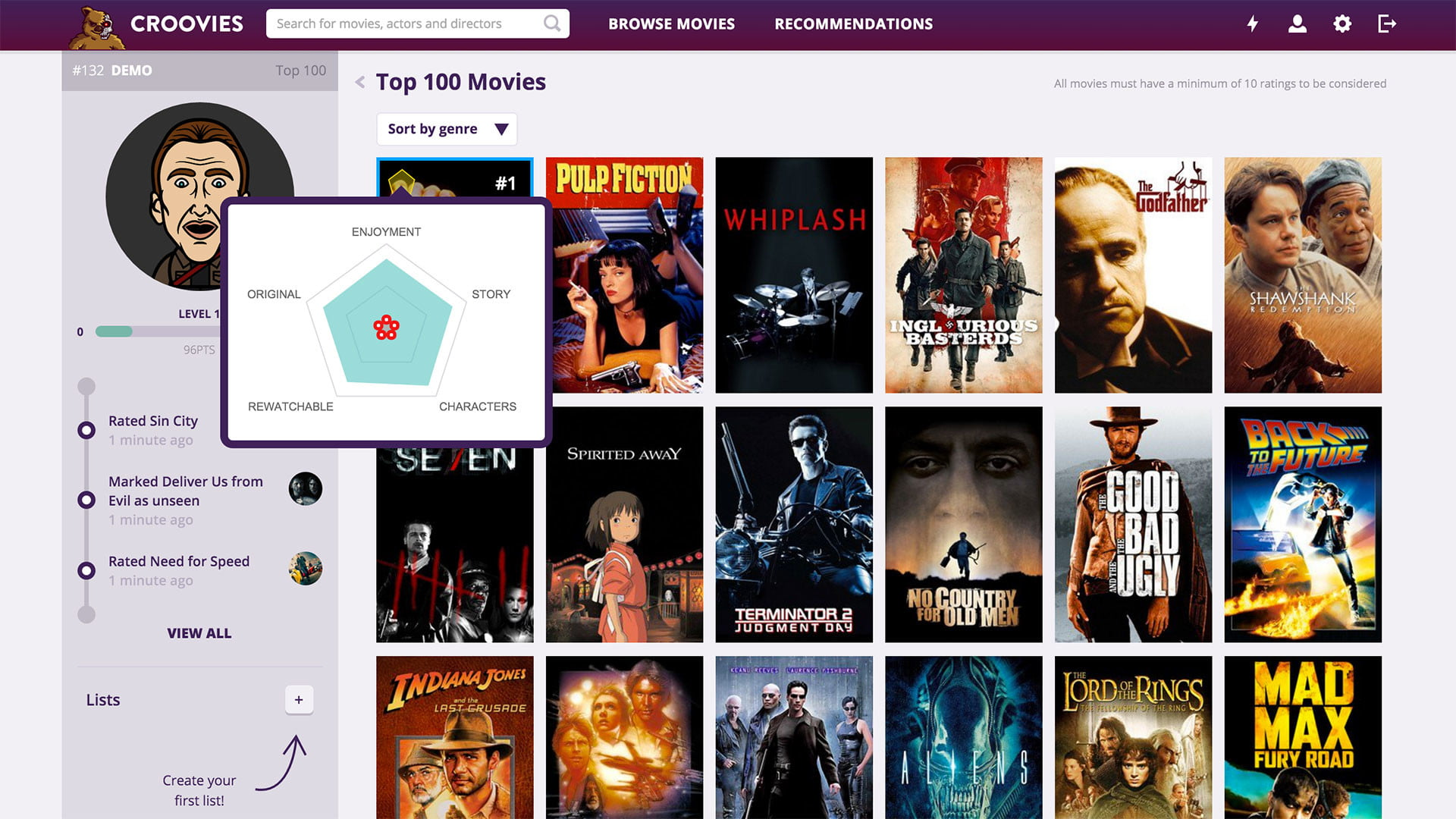 croovies movie ratings and recommendations screenshot 3