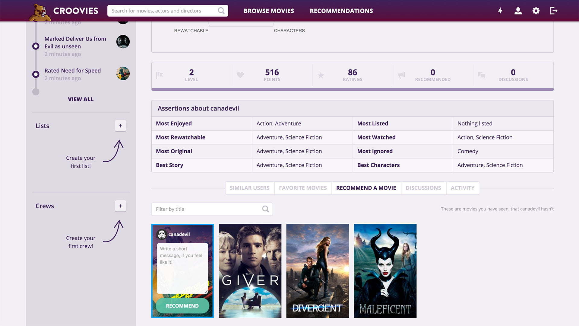 croovies movie ratings and recommendations screenshot 7
