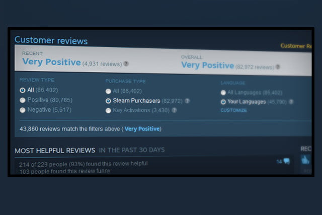steam user ratings changes customerreviews