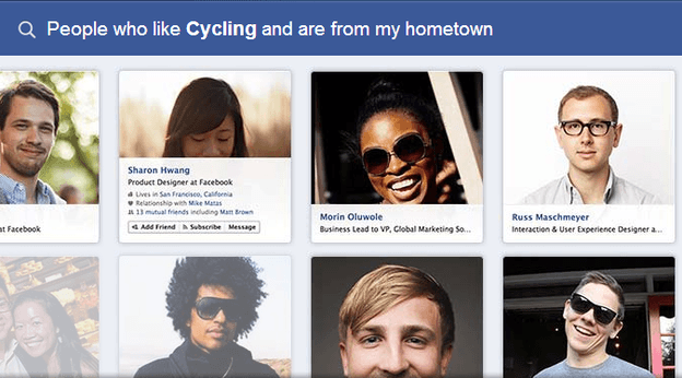 fb search cycling home town