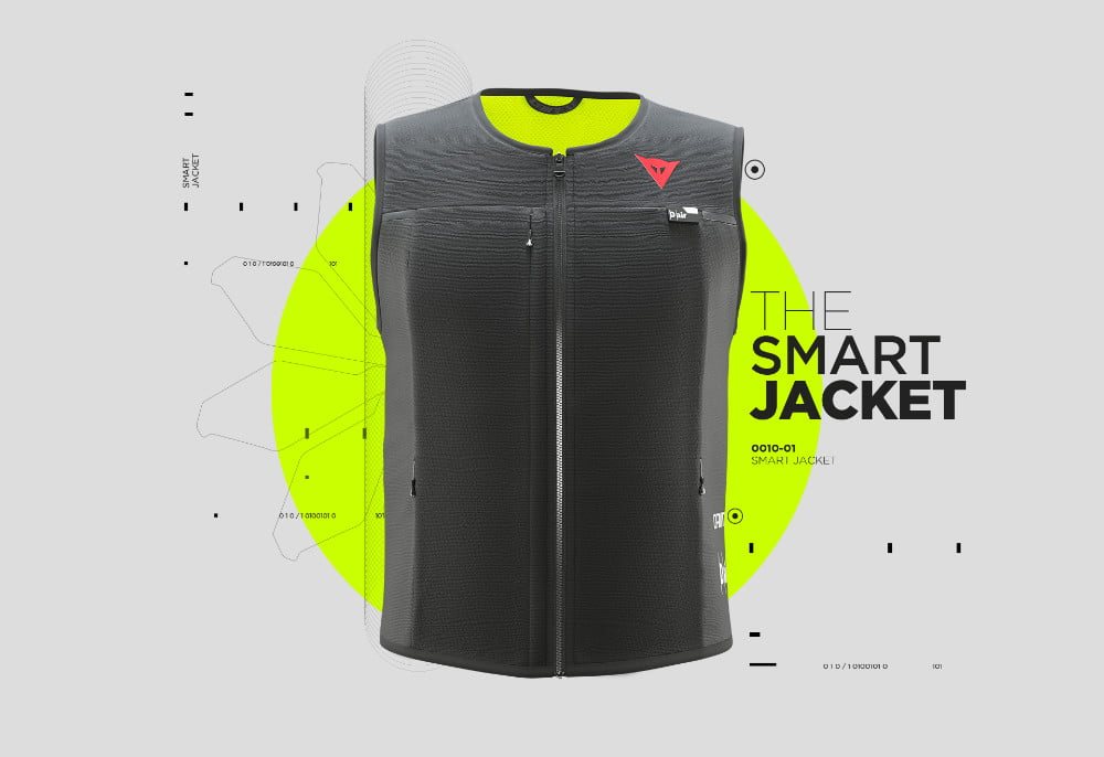 dainese smart jacket garment airbag breaks new ground so you wont get broken dair close up graphic