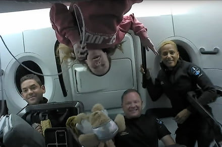 Inspiration4 crew shares an update on their mission from orbit