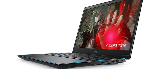 Dell G3 15 Gaming Laptop with Code Vein on the screen.
