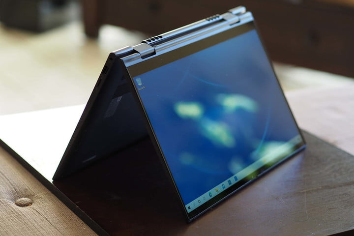 Dell Inspiron 14 2-in-1 folded in a tent fold.