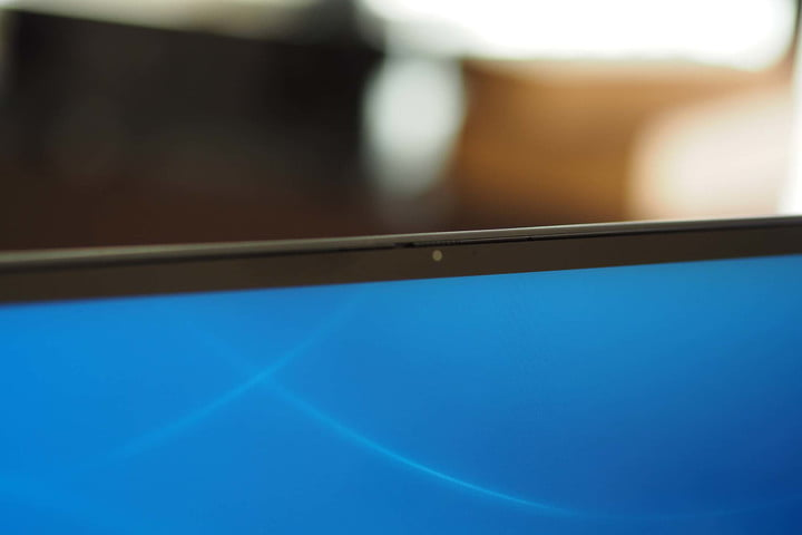 Closeup on the webcam on the Dell Inspiron 14 2-in-1.