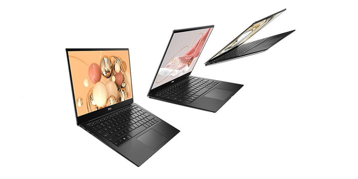 Dell XPS 13 on white background.