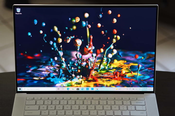 Dell XPS 15 OLED screen.