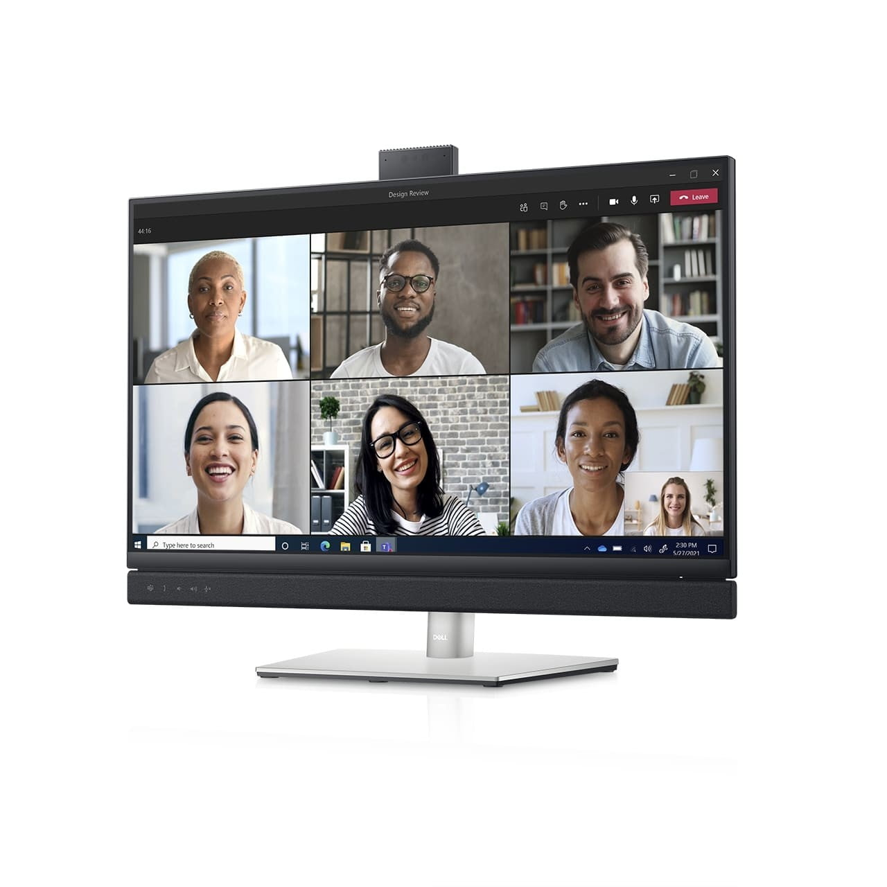 dell refreshes ultrasharp monitors ces 2021 27 video conferencing monitor front right angle screen fill 1