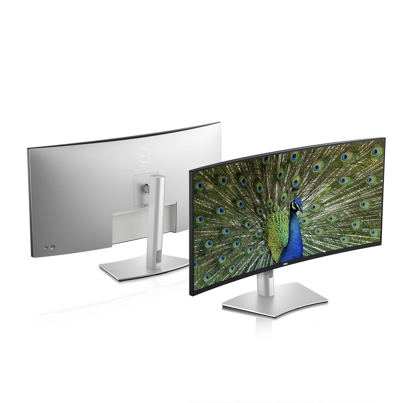 dell refreshes ultrasharp monitors ces 2021 40 curved monitor front back