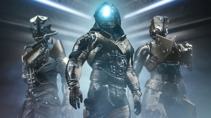 Thee soldiers pose in a Destiny 2 promo.