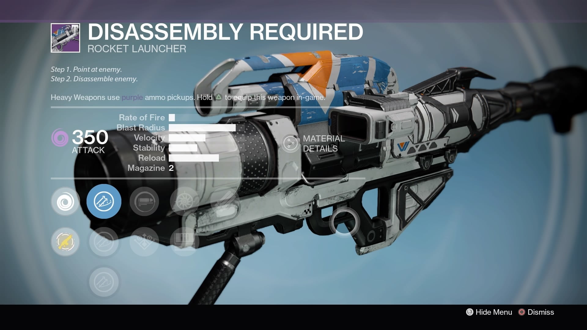 funniest gun names destiny rise of iron disassembly required