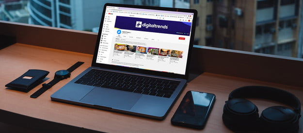 Digital Trends' Youtube channel on a Macbook.