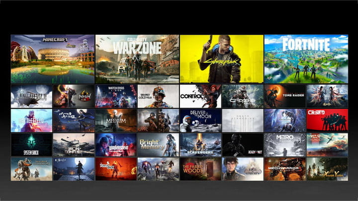 The list of available DLSS supporting games.