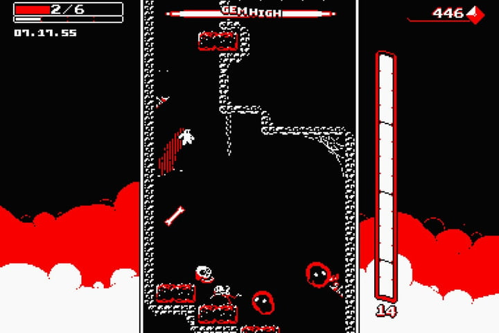 downwell out now on android downwellandroid header