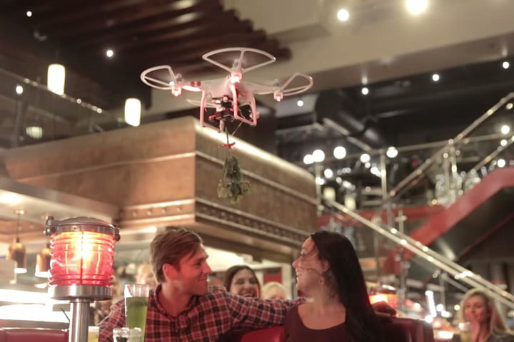 tgi fridays launching mistletoe carrying drones christmas and
