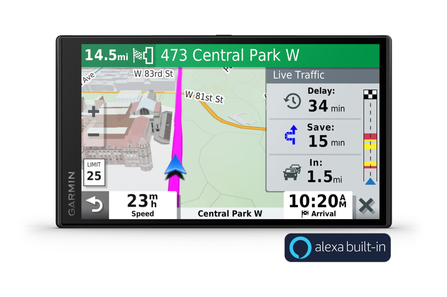 garmin drivesmart65 puts alexa in your car and tells you where to go ds 65 with aa badge