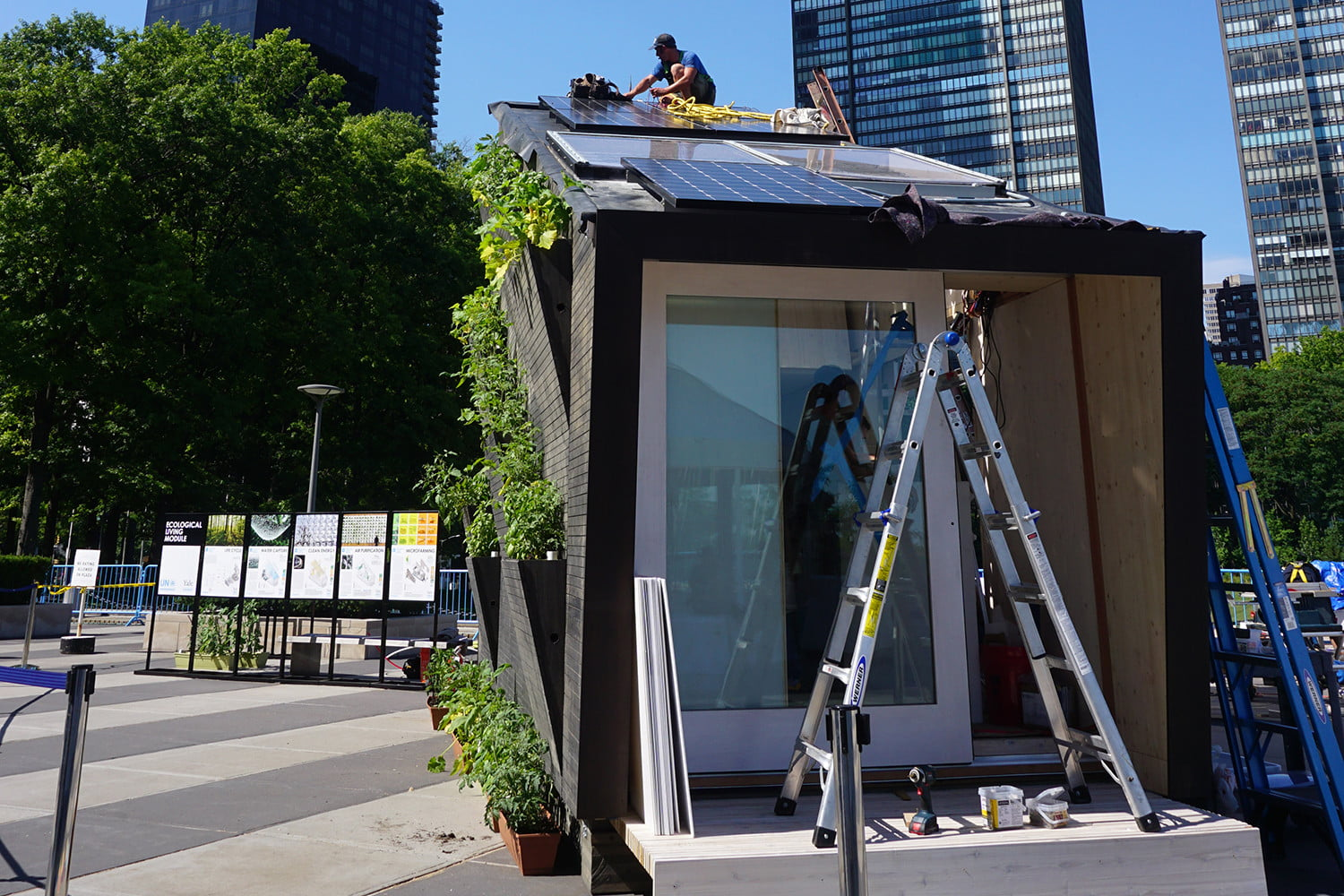 yale smart tiny houme of the future ecological living module