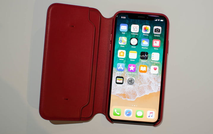iPhone X Product (RED) Leather Folio