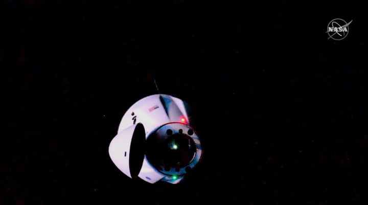 SpaceX Cargo Dragon approaches the International Space Station on Saturday, June 5.