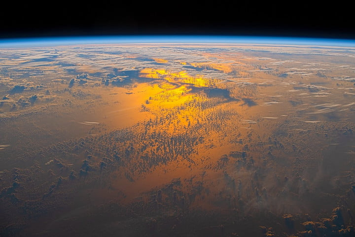 Earth captured from the space station.
