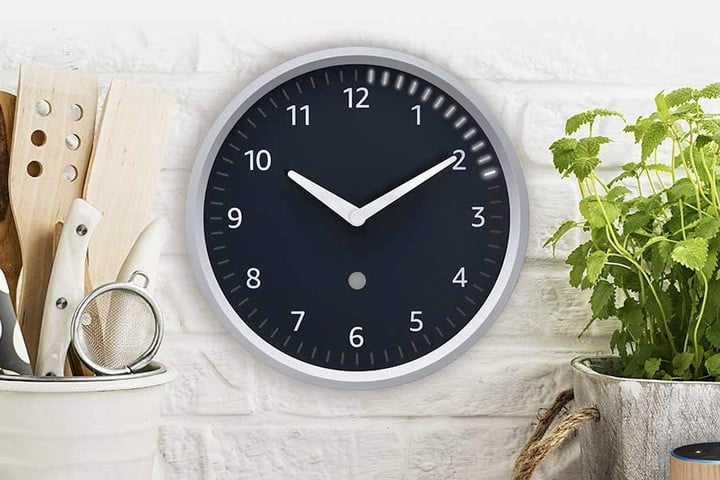 The Echo Wall Clock in a kitchen.
