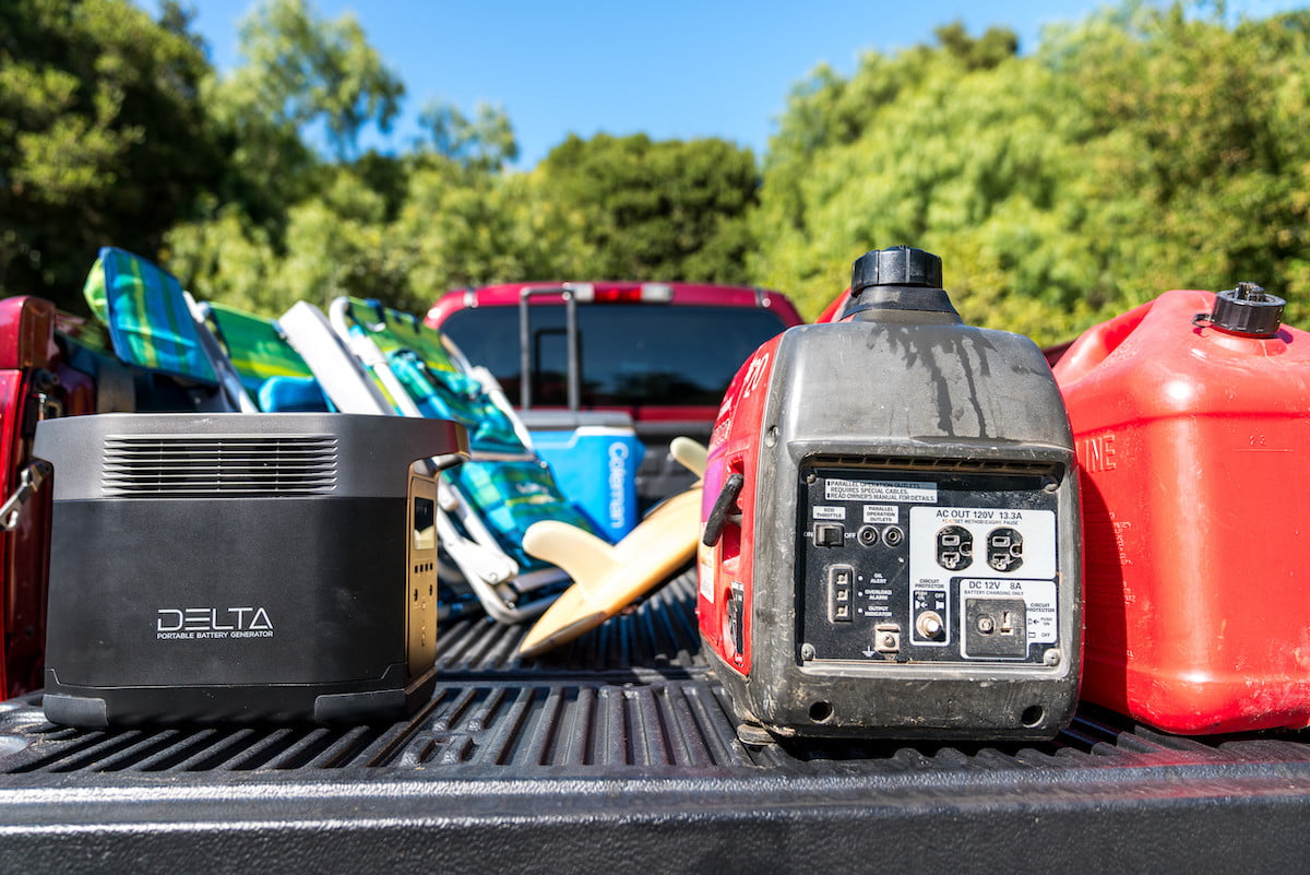 this portable power station has 6 ac outlets and can charge a tesla ecoflow delta