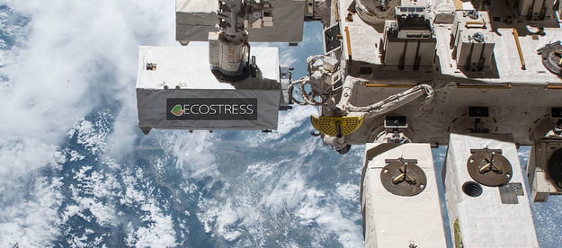 The ECOSTRESS instrument attached to the ISS.