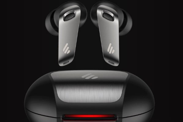 Edifier NeoBuds Pro hi-res true wireless earbuds with charging case.