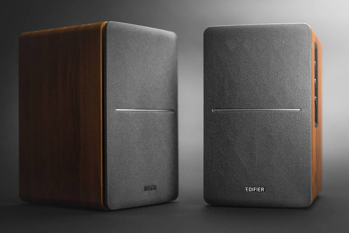 The Edifier R1280 powered speakers.