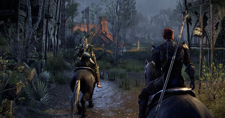 ESO Companion traveling with main character.