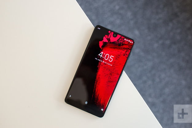 Essential phone review angle on table