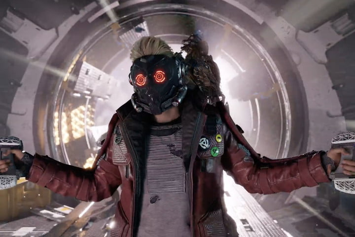Star Lord from Guardians of the Galaxy with two guns.