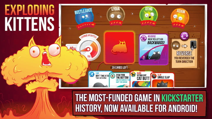 Exploding Kittens game on Android.