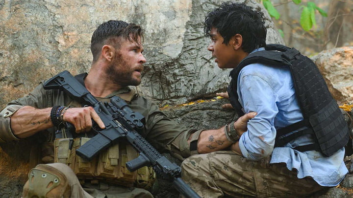 Chris Hemsworth in Extraction, best action movies on Netflix