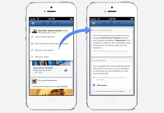 facebook targeted ads web browsing history