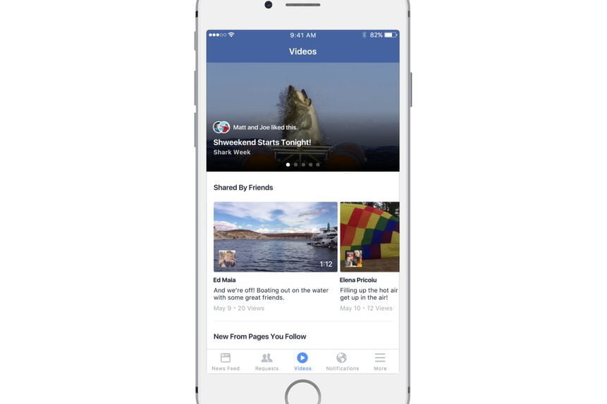 facebook begins testing news feed just for video videos