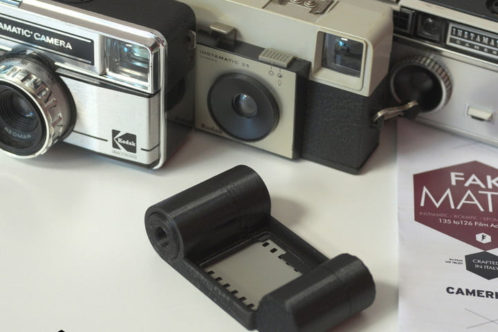 camerahack 3d printed film adapters fakmatic 35mm adapter for instamatic 5
