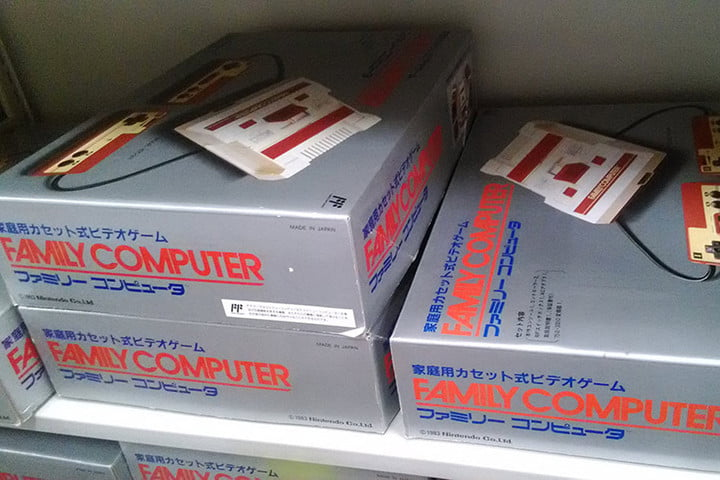 nintendo kyoto hq hardware collection famicom stack