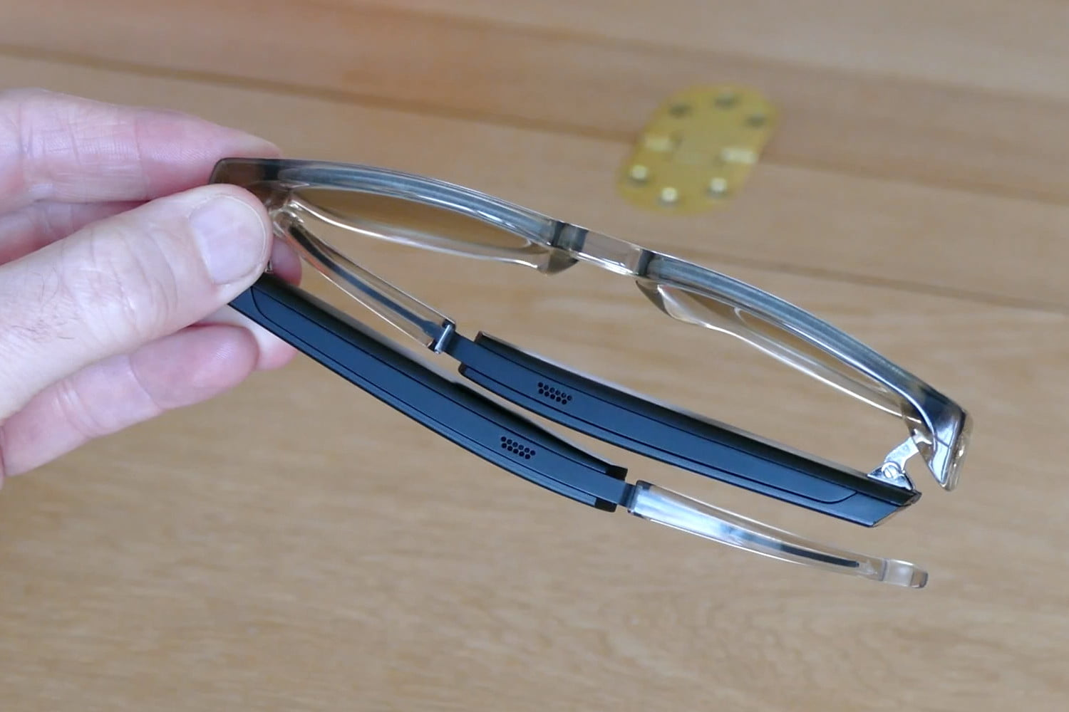 bluetooth audio smart glasses are a waste of space on your face fauna top down arms