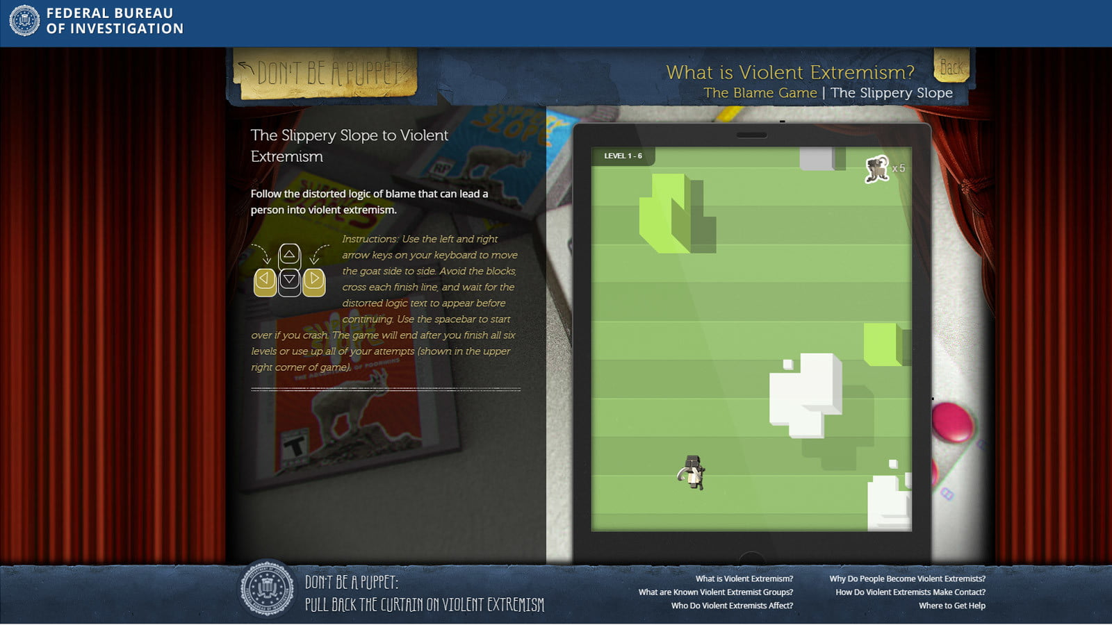 fbi anti extremism site targets teens but misses the mark fbisite05