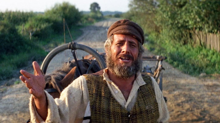 A scene from Fiddler on the Roof.