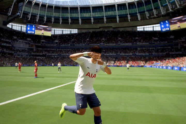 Soccer player in FIFA 22.