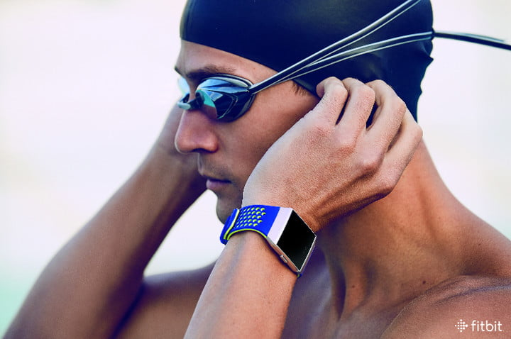 Swimmer wearing the Fitbit Ionic.