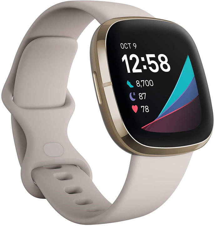 A close-up look at the Fitbit Sense.
